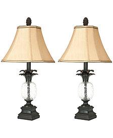 Safavieh Set of 2 Alanna Glass Pineapple Table Lamps
