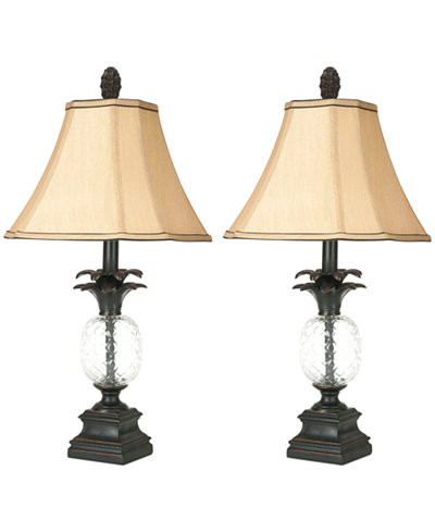 Safavieh Set Of 2 Alanna Glass Pineapple Table Lamps