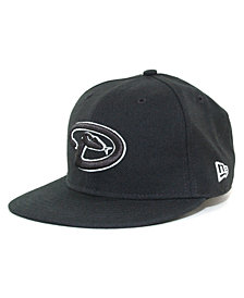 New Era Kids' Arizona Diamondbacks MLB Black and White Fashion 59FIFTY Cap