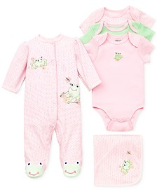 Little Me Baby Girls Sweet Frogs Gift Bundle