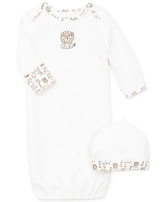 Baby Boys Safari Hat & Gown Set