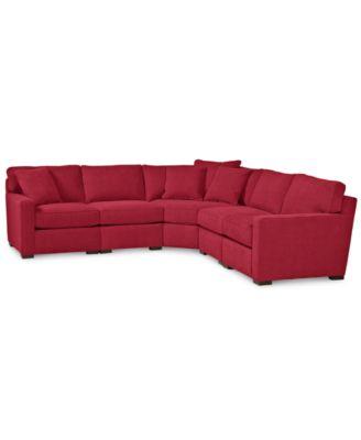 radley 5piece fabric sectional sofa custom colors created for macyu0027s - Radley Sectional