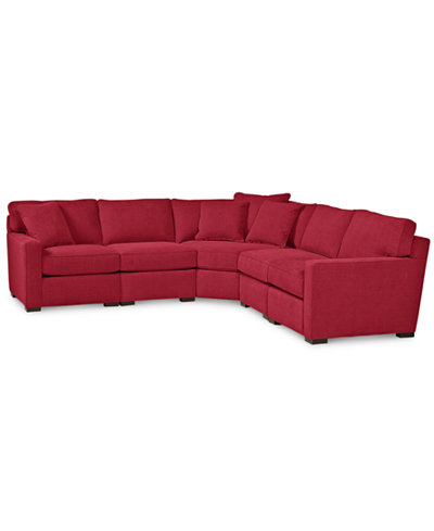 Radley 5 Piece Fabric Sectional Sofa Custom Colors