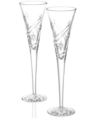 Waterford Stemware, Achievements Toasting Flutes, Set of 2