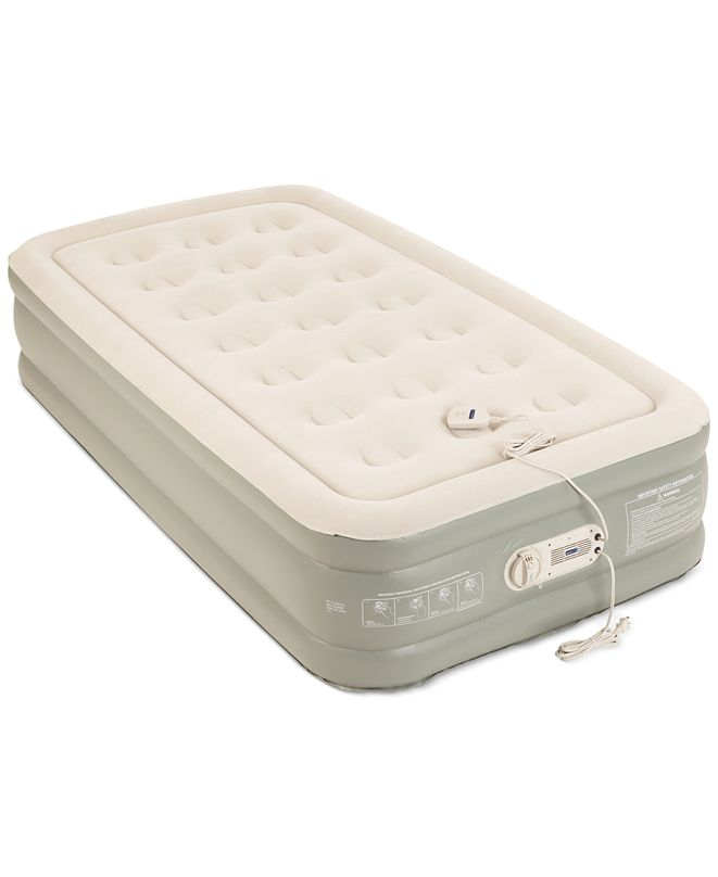 """Aerobed Premier 2-Layer 16"""" Twin Air Mattress with Built ..."""