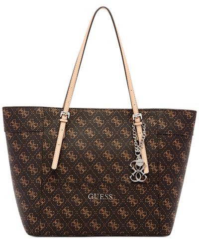 GUESS Delaney Signature Small Classic Tote - Handbags ...