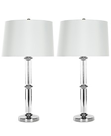 Set of 2 Vendome Crystal Table Lamps