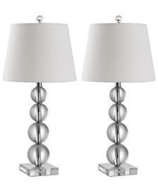 Set of 2 Millie Crystal Ball Table Lamps
