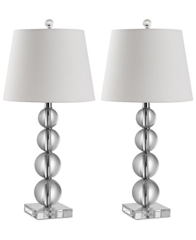 Safavieh Set of 2 Millie Crystal Ball Table Lamps