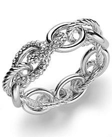 I.N.C. Rose Pavé Link Stretch Bracelet