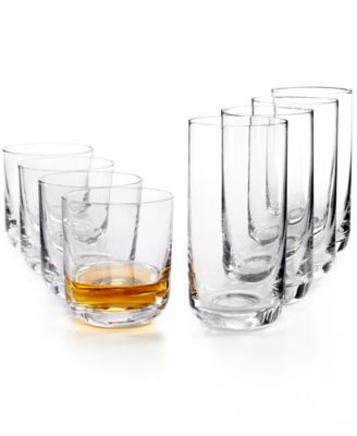 Premium Glassware, Double Old Fashioned & Highball Glasses, Set of 8, Created for Macy's