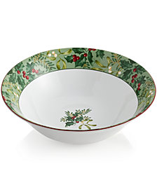 222 Fifth Christmas Foliage Serving Bowl