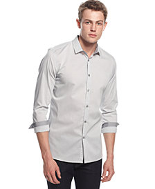 Alfani Slim-Fit, Long-Sleeve Stretch Check Shirt, Created for Macy's