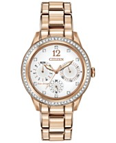 2003e6ec2b7 Citizen Women s Chronograph Eco-Drive Silhouette Crystal Rose Gold-Tone  Stainless Steel Bracelet Watch