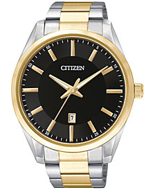 Citizen Men's Two-Tone Stainless Steel Bracelet Watch 42mm BI1034-52E
