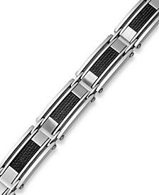 Men's Stainless Steel Cable Slot Link Bracelet