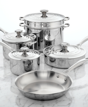 Le Creuset Stainless Steel 10 Piece Cookware