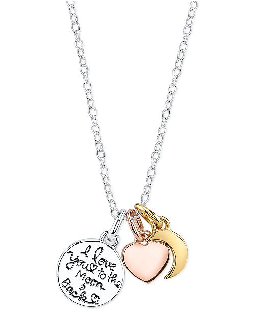 Unwritten i love you to the moon and back charm pendant necklace in unwritten i love you to the moon and back charm pendant necklace in sterling silver necklaces jewelry watches macys aloadofball Image collections