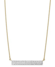 Diamond Horizontal Bar Cluster Necklace (1/4 ct. t.w.) in 10k White Gold or 10k Gold, Created for Macy's