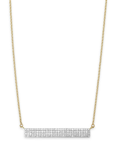 Wred Diamond Bar Pendant Necklace In 10k Gold 1 4 Ct T W