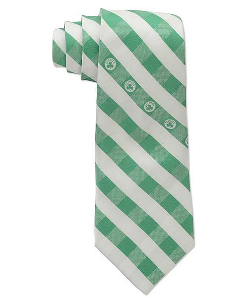 Eagles Wings Boston Celtics Checked Tie