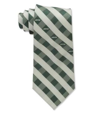 New York Jets Checked Tie