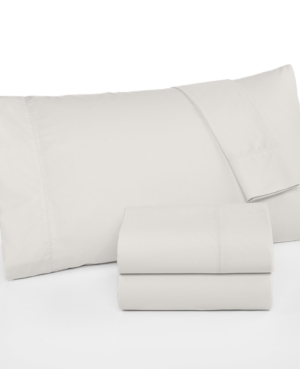 Closeout Martha Stewart Collection Twin 3pc Sheet Set 360 Thread Count Cotton Percale Created for Macys Bedding