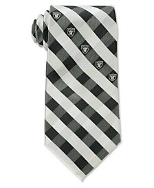 Eagles Wings Oakland Raiders Checked Tie