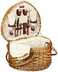 Picnic Time Heart Picnic Basket