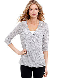 Jessica Simpson for Motherhood Maternity Faux-Wrap Nursing Top