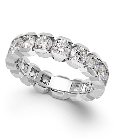 Diamond Sizable Box Eternity Band in 14k White Gold (3 ct. t.w.)