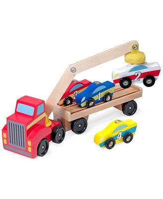 Melissa and Doug Kids' Magnetic Car Loader Toy