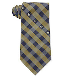 Eagles Wings Milwaukee Brewers Checked Tie