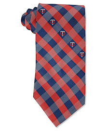Eagles Wings Minnesota Twins Checked Tie