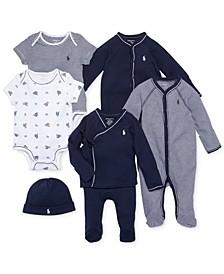 Ralph Lauren Baby Boys Nestled In Navy Gift Bundle