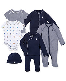 Ralph Lauren Baby Boys Nestled In Navy Gift Bundle