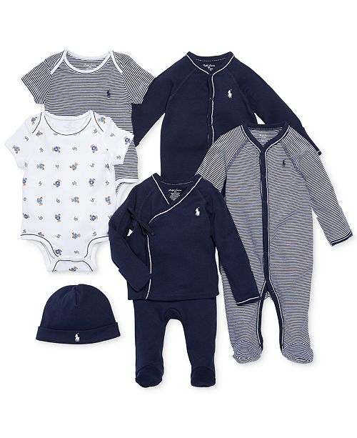 69825f88d Polo Ralph Lauren Ralph Lauren Baby Boys Nestled In Navy Gift Bundle