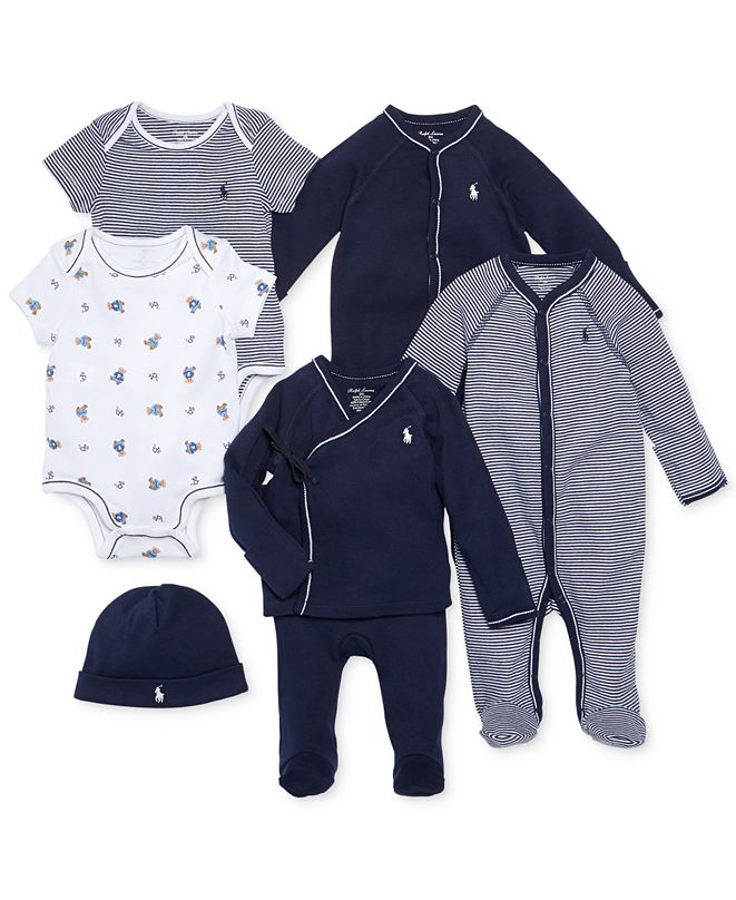Polo Ralph Lauren Ralph Lauren Baby Boys Nestled In Navy Gift Bundle