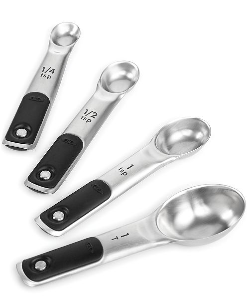 OXO Good Grips Set of 4 Stainless Steel Magnetic Measuring Spoons