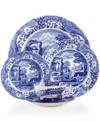 Blue Italian  5-Piece Place Setting.    sc 1 st  Macyu0027s & Spode Dinnerware Blue Italian Collection - Dinnerware - Dining ...