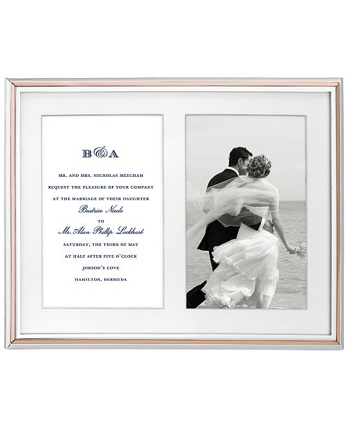 Kate Spade New York Rosy Glow Double Invitation Frame Picture