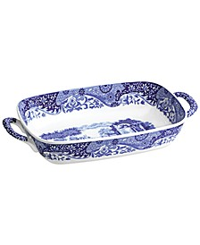 Blue Italian Handled Serving Dish