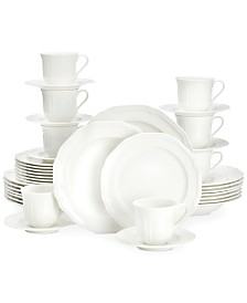 Antique White 40-Pc. Dinnerware Set, Service for 8