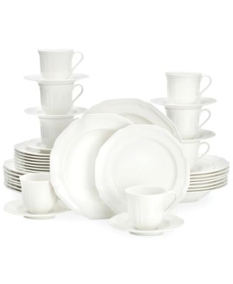 mikasa antique white 40pc dinnerware set service for 8 - White Dinnerware Sets