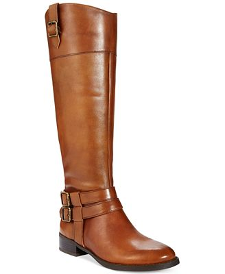 INC International Concepts Fahnee Leather Riding Boots, Only at ...