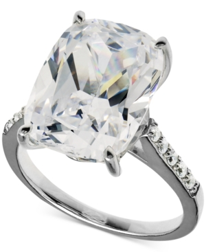Cubic Zirconia Oval Ring in Sterling Silver (15-5/8 ct. t.w.)