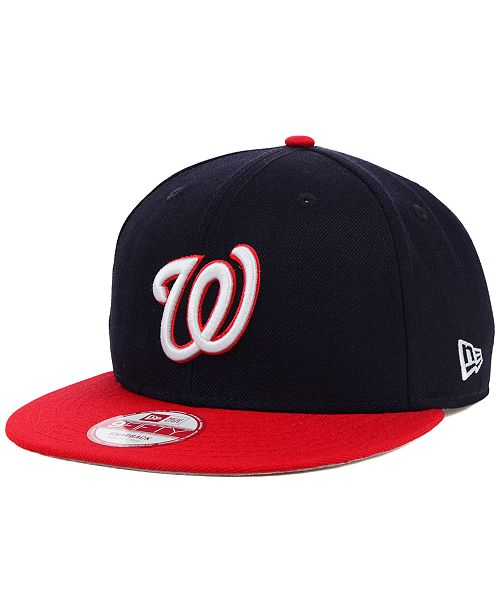 on sale a03a4 9ae64 ... New Era Washington Nationals MLB 2 Tone Link 9FIFTY Snapback Cap ...