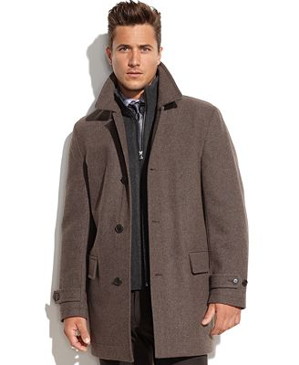 MICHAEL Michael Kors Milos Wool-Blend Knit-Bib Car Coat - Coats