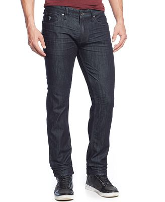 GUESS Men&39s Slim-Straight Fit Smokescreen-Wash Jeans - Jeans - Men