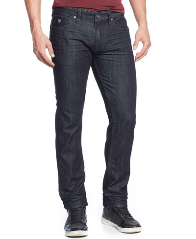 GUESS Men's Slim-Straight Fit Smokescreen-Wash Jeans - Jeans - Men ...